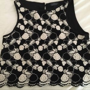 TOPSHOP crochet floral tank